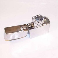 Зажигалка бенз. Zippo цвет-серебро 15 см