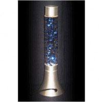 Лампа Сияющие блестки - голубаяH-37см