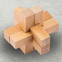 Открыть инструкцию Головоломка деревянная в коробке Крест от Эврика