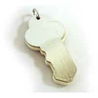 Блокнот ключ серебристый