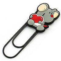 Закладка-скрепка Гигант Мышка с сердечком