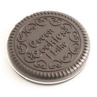 Зеркало круглое с гребешком темный шоколад D-7см Эврика