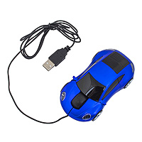 Мышь для ПК в виде автомобиля синяя А23