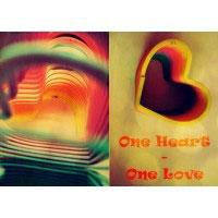 Обложка для тетрадных блоков N5 one heart