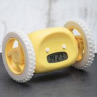 Часы будильник Инопланетянин желтый