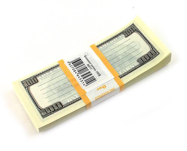 Блокнот Пачка 100 долларов - 42 руб.