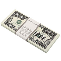 Блокнот Пачка 1 млн  долларов
