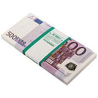 Блокнот Пачка 500 евро