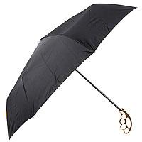 Зонт Кастет черный с зол. ручкой