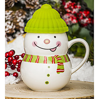 Кружка-снеговик Растопи лед зеленый