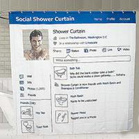 Занавеска в душ Социальная сеть180180cm Эврика