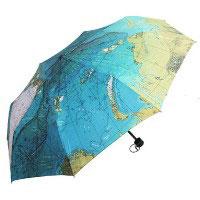 Зонт Карта Мира складной Эврика