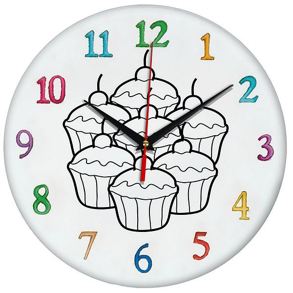 Часы раскраска Кексы Эврика