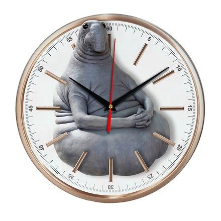 Часы настенные Ждун стеклянные Эврика
