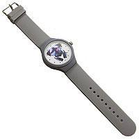 Часы наручные Мопс с наушниками сер.