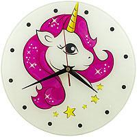 Часы Единорог стекло